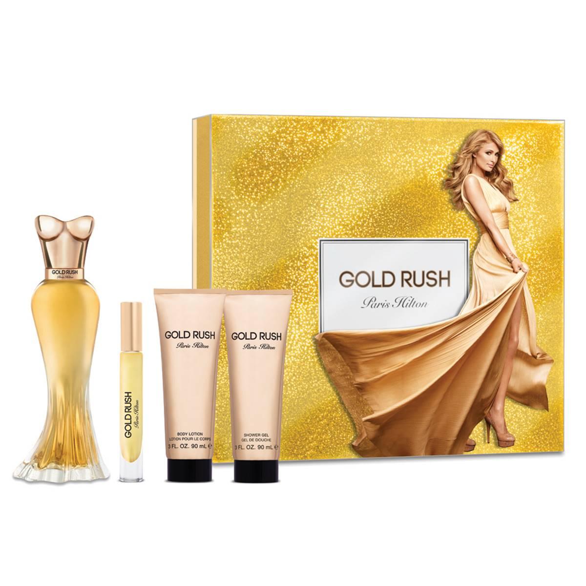 Gold Rush By Paris Hilton 4 Pcs Set